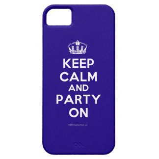 Keep Calm and Party On iPhone 5 Schutzhülle