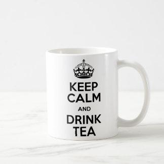 Keep Calm zerteilt Kienspan Kaffeetasse