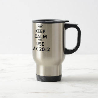 Keep verwendet calm and Ax 2012 Edelstahl Thermotasse