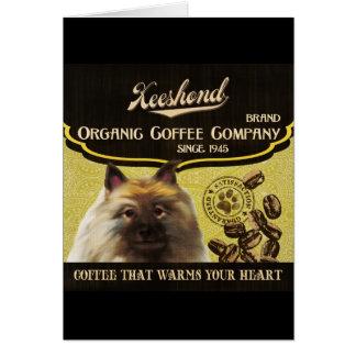 Keeshond-Marke - Organic Coffee Company Karte