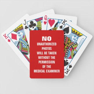 Kein Foto-Autopsie-Raum-Zeichen Poker Karten