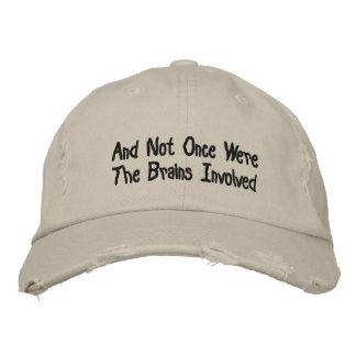 kein Gehirn gestickter Hut Bestickte Mützen