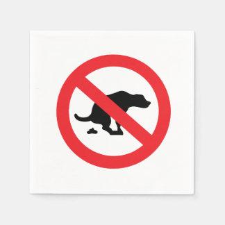 Kein Hund kacken lustiges sarkastisches des Papierservietten