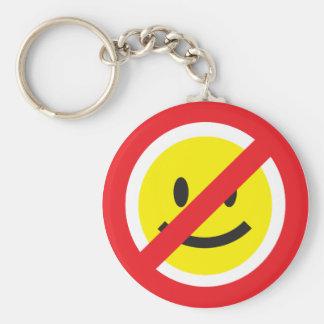 Kein Lächeln Keychain Standard Runder Schlüsselanhänger
