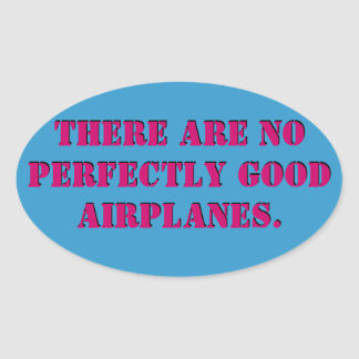 Kein perfekter Flugzeug-Aufkleber Ovaler Aufkleber