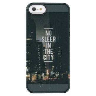 Kein Schlaf im Stadt-Fall Durchsichtige iPhone SE/5/5s Hülle