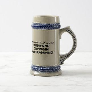 Kein Schreien bei der Programmierung Bierglas
