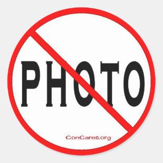 Kein Zoll Foto-3 Aufkleber-Blatt von 6 Runder Aufkleber