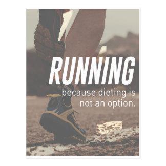 Keine Diät-gerade laufenden Läufer Postkarte