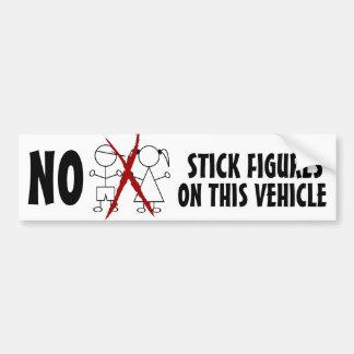 KEINE dummen Strichmännchen-Familien auf diesem Autoaufkleber