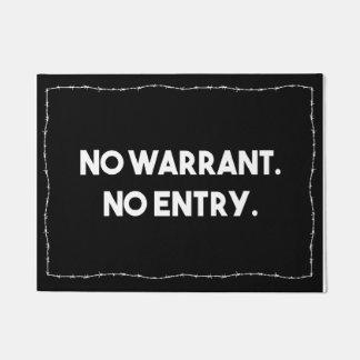Keine Ermächtigung. Kein Eintritt. Doormat
