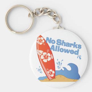 Keine Haifische erlaubt Schlüsselanhänger