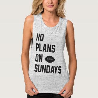 Keine Pläne auf Fußball-Sonntags-Behälter Tank Top