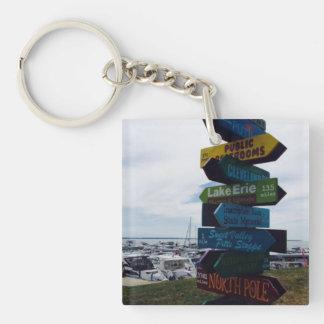 Kelleys Zeichen-Foto-Schlüsselkette Insel-, Ohio Schlüsselanhänger