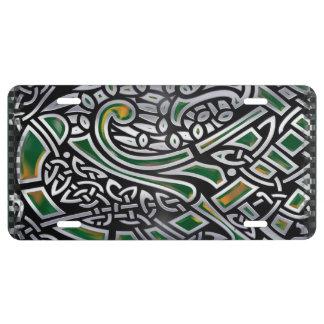 Keltische Folie der Vogel-3D US Nummernschild