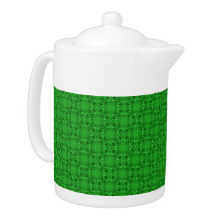 Keltische Klee-Kaleidoskop-Muster-Teekannen