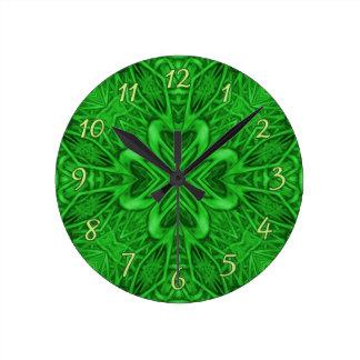 Keltische Klee-Kaleidoskop-Wanduhren Wanduhr