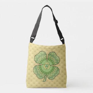 Keltische Kleeblatt-ganz vorbei - Druck-Tasche Tragetaschen Mit Langen Trägern