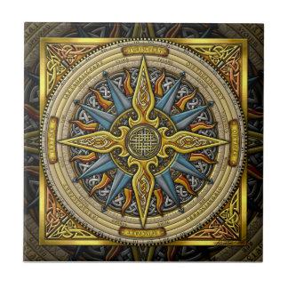 Keltische Kompass-Fliese Kleine Quadratische Fliese