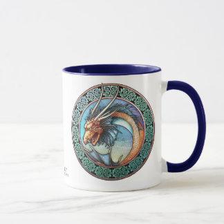 Keltische Kunst-Drache-Tasse Tasse