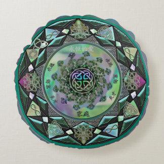 Keltische mystische Mandala-rundes Wurfs-Kissen Rundes Kissen