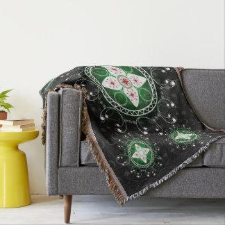 Keltische Schwarz-weiße grüne rote Throw-Decke Decke