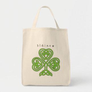 Keltischen Entwurfs-Kleeblatt-St Patrick Tag Tragetasche