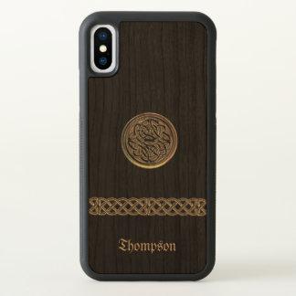 Keltischer Bronzeknoten personalisierter iPhone X iPhone X Hülle