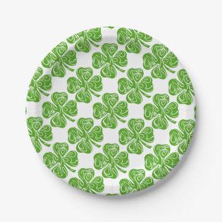 Keltischer Klee Pappteller