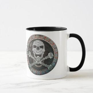 Keltischer Schädel u. Knochen-Tasse Tasse