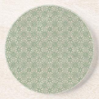 Keltisches Knoten-Grün-Muster Sandstein Untersetzer