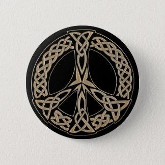 Keltisches Knoten-Muster-Friedenszeichen Runder Button 5,7 Cm