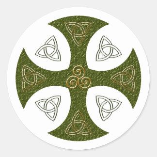 Keltisches Kreuz celtic cross Runder Aufkleber