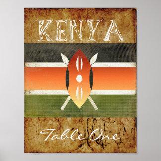 Kenia-Tischnummer Poster