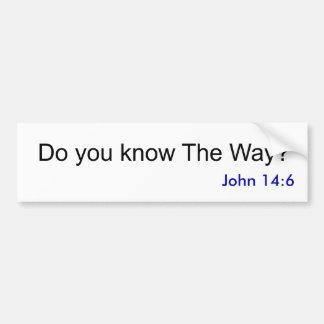 Kennen Sie die Weise? , John-14:6 Autoaufkleber