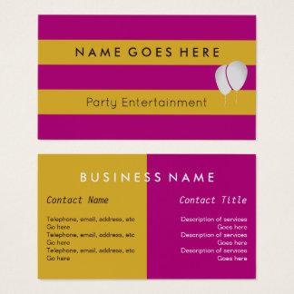 """""""Kennzeichnet"""" Party-Entertainer-Geschäfts-Karten Visitenkarten"""
