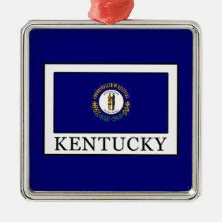 Kentucky Quadratisches Silberfarbenes Ornament