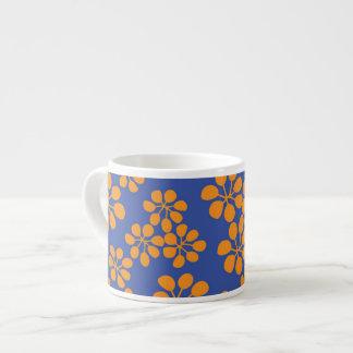Keramikespresso-Schale. Blumenmusterentwurf Espresso-Tassen