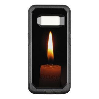 Kerzen-Flamme auf schwarzem Kasten OtterBox OtterBox Commuter Samsung Galaxy S8 Hülle