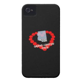 Kerzen-Herz-Entwurf für den Staat von Arizona iPhone 4 Hülle