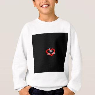 Kerzen-Herz-Entwurf für den Staat von Idaho Sweatshirt
