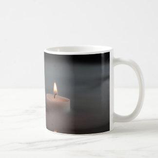 Kerzen im Nebel Tasse