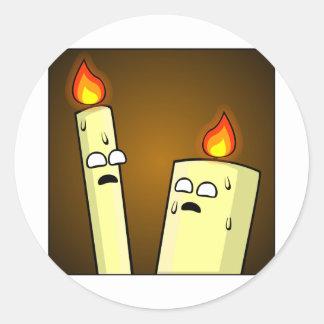 Kerzen Runder Aufkleber