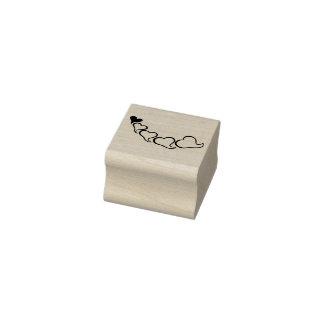 Kette der Herzillustrations-Kunst-Briefmarke Gummistempel