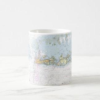 Key Westseediagramm-Kaffee-Tassen-Schale Kaffeetasse