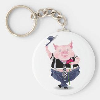 Keychain mit lustigem Schweinbild Schlüsselanhänger