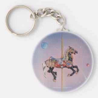 Keychains - Petaluma Karussell-Pferd 1 Standard Runder Schlüsselanhänger