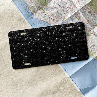 Kfz-Kennzeichen-Abdeckungs-Schwarzes KristallBling US Nummernschild