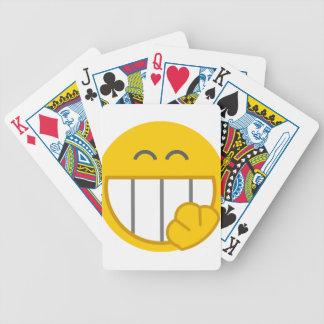 Kichernder Gesichts-Entwurf Poker Karten