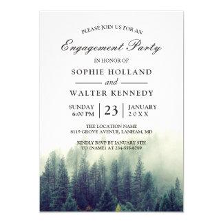 Kiefern-Baum-WaldPolterabend-Verlobungs-Party 12,7 X 17,8 Cm Einladungskarte
